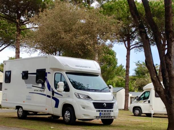 Motorhome hire near Brittany Ferries