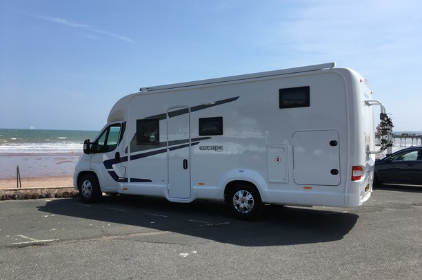 Family motorhome hire with fixed twin or double bed
