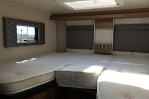 Luxury Campervan hire fixed twin or double bed