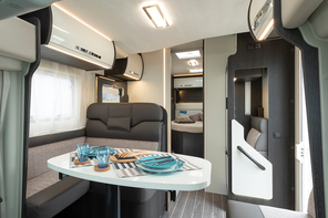 Cornwall motorhome hire with fixed bed