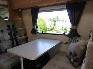 Motorhome hire dining in Devon and Cornwall