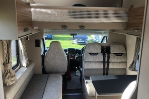 Camper van hire Torbay with rear lounge