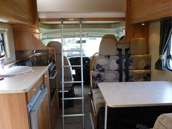 Motorhome hire over-cab bed in Devon and Cornwall